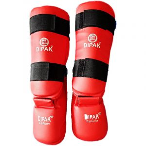 Best Quality Dipak Exclusive Shin Pads Guard, All Cotton, Cotton Padded. Dipak Exclusive Shin Pads Guard Highest Quality Karate Pad Online Buy.
