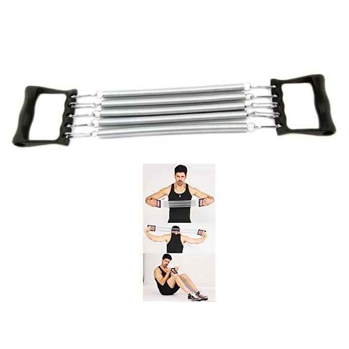 Fitness Chest Expander, Resistance Bands Crossfit Training for Body Exercise. Arm and Chest Muscle Builder, Chest Expander Springs Removable
