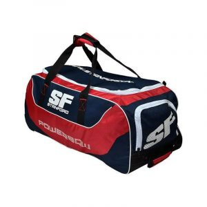 Cricket Kit Bag Full size with Wheels for Easy Transport. SF Power Bow Cricket Kit Bag Navy and Red Good Desingn SF Cricket Kit Bag