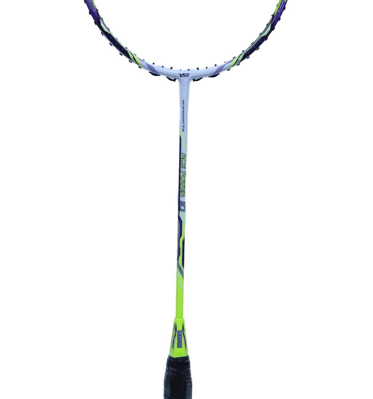 The new Ace Power 10 lightweight badminton racket allows for straightforward handling while maintaining the Ace Power series.
